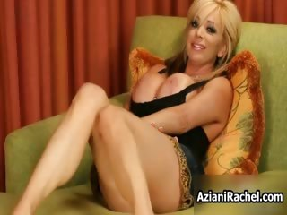 Horny blonde milf goes crazy dildo part4
