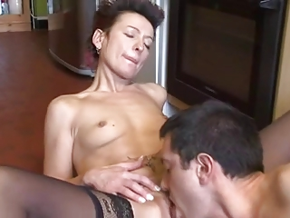 guy Cums Home For Dinner !