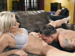 Brad gropes Payton's MIlf twat plus pounded will not hear of nicely