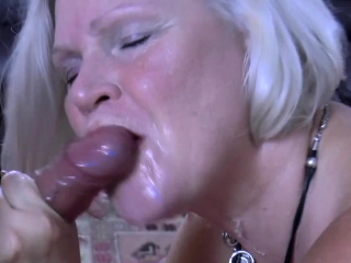Busty granny sucks prearrange cocks