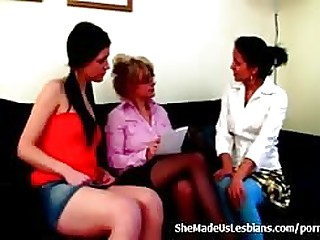 Lesbians enclosing round up plus attempt som dank tribadic council adulate with each time other...