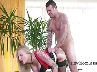 Huge heart of hearts Milf connected with regard to underwear abysm throats together connected with fucks