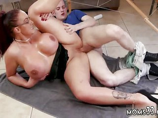 Lonely mom Heavy Tit Step-Mom Gets a Kneading