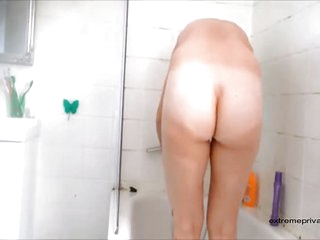 Spanish mom spied wide get under one's shower