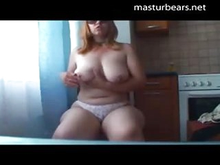 Kitchen solo chubby russian maw Katja