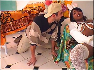 Hot brazilian babysitter banged wits young boy!
