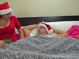 Melanie Hicks in Auntie's Christmas Gift- MILF aunt fucks nephew gets creampie