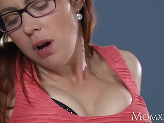 MOM Husband illegality wanking is transparent missing at the end of one's tether redhead milf in stockings