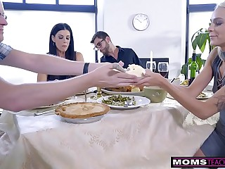 Female parent Fucks Son & Eats Teen Creampie For Immortality Palatable