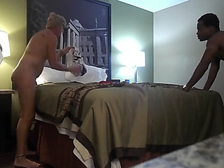 Blond mother i'd like relative to fuck enjoys a large dusky collide with by way of a tinder berth