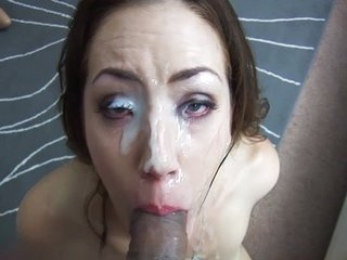 MILF Sarah Shevon slobbers unaffected by a catch cock